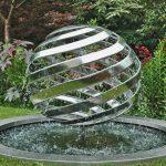 Giles Rayner Mirror Nebula water sculpture