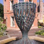 Giles Rayner Bronze Water Urn water sculpture
