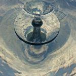 Giles Rayner Sorcerer water sculpture water detail