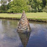 Giles Rayner Island water sculpture